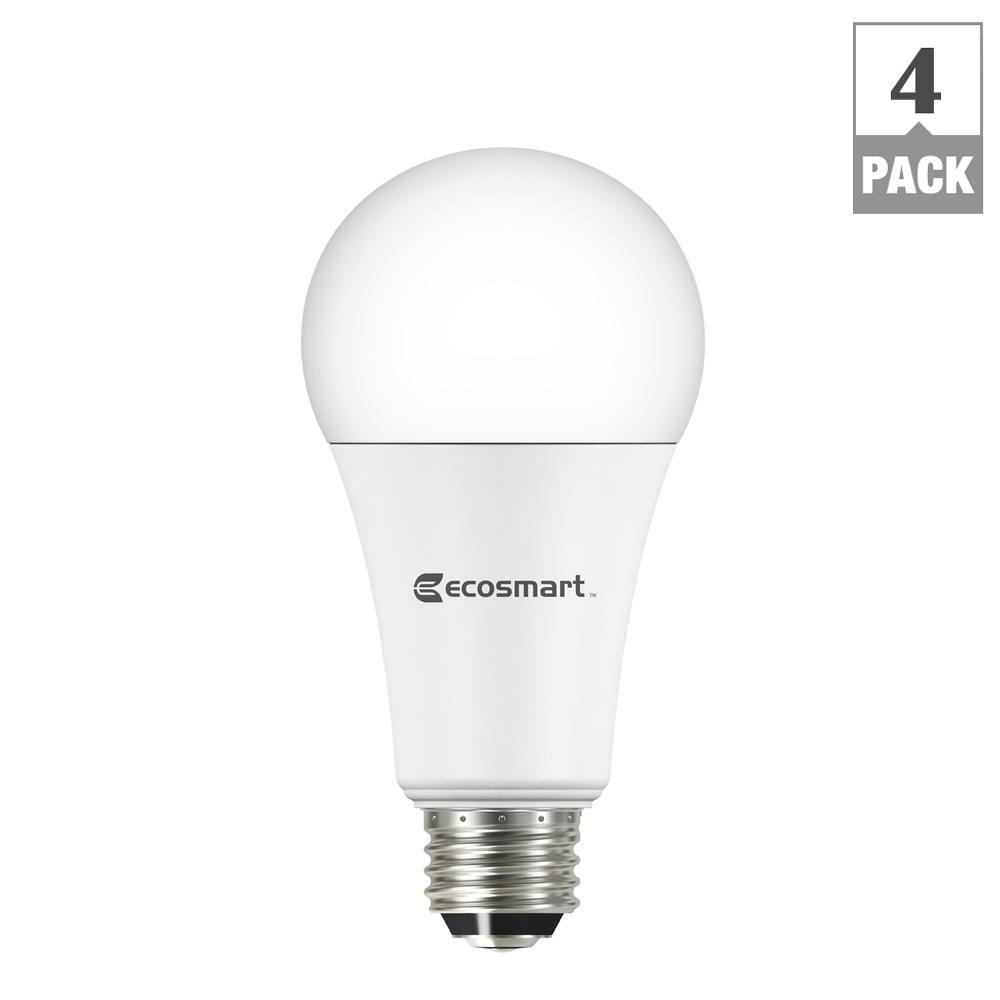 40/60/100-Watt Equivalent A21 3-Way LED Light Bulb, Daylight (4-Pack)