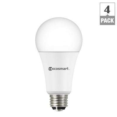 40/60/100W Equivalent Daylight A21 3-Way LED Light Bulb (4-Pack)