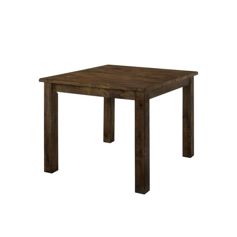 Furniture Of America Adam Rustic Oak Counter Height Dining Table