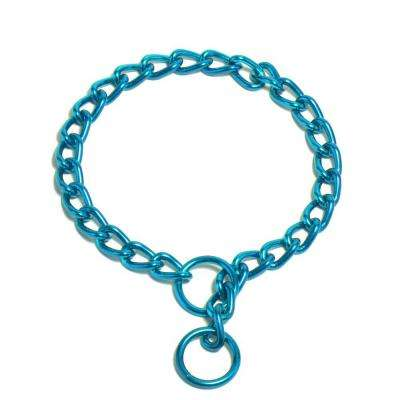 Platinum Pets 14 in. x 2 mm Chain Training Collar, Caribbean Teal