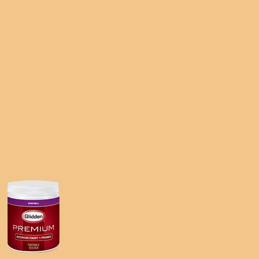 Glidden Premium 8 Oz Hdgo59 Palomino Gold Eggshell Interior Paint With Primer Tester Hdgo59p