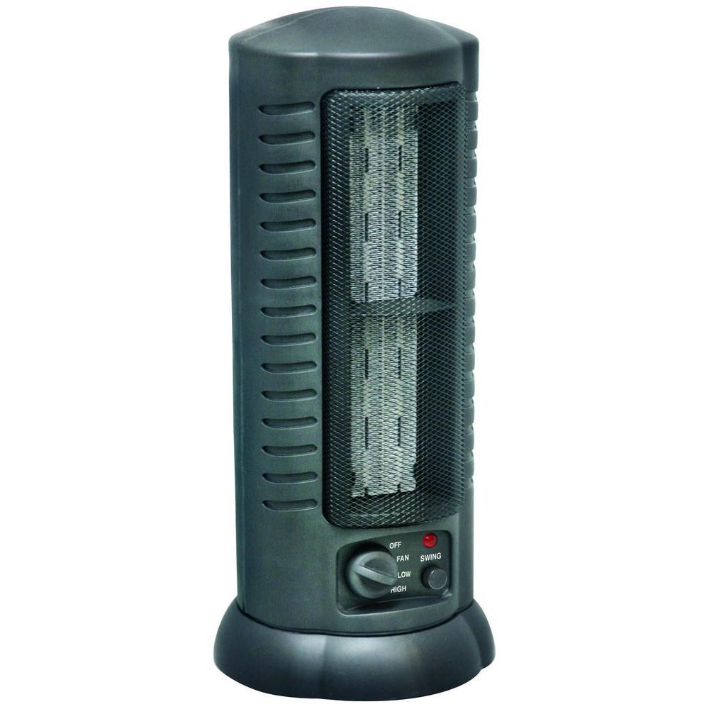 17 in. 800/1500-Watt Ceramic Citadel Oscillating Tower Heater