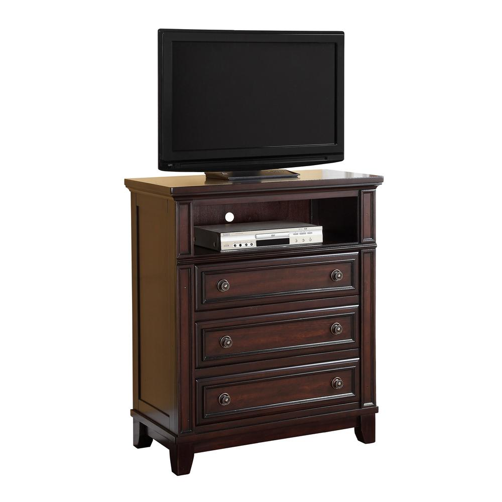 Picket House Furnishings Harland Espresso 3 Drawer Media Chest