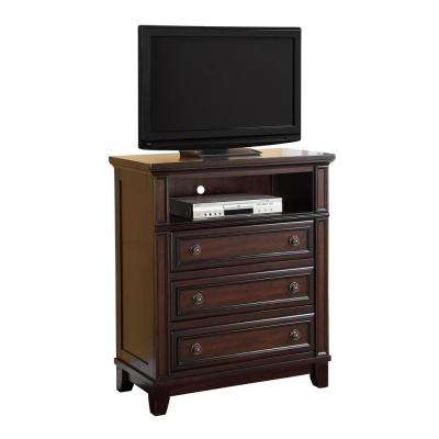 Harland Espresso 3-Drawer Media Chest
