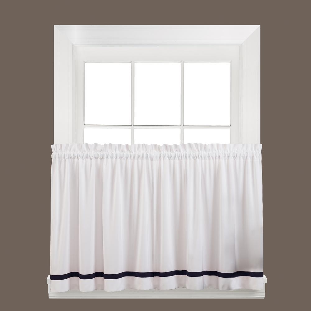 Saturday Knight Semi Opaque Kate 24 In L Polyester Tier Curtain Black