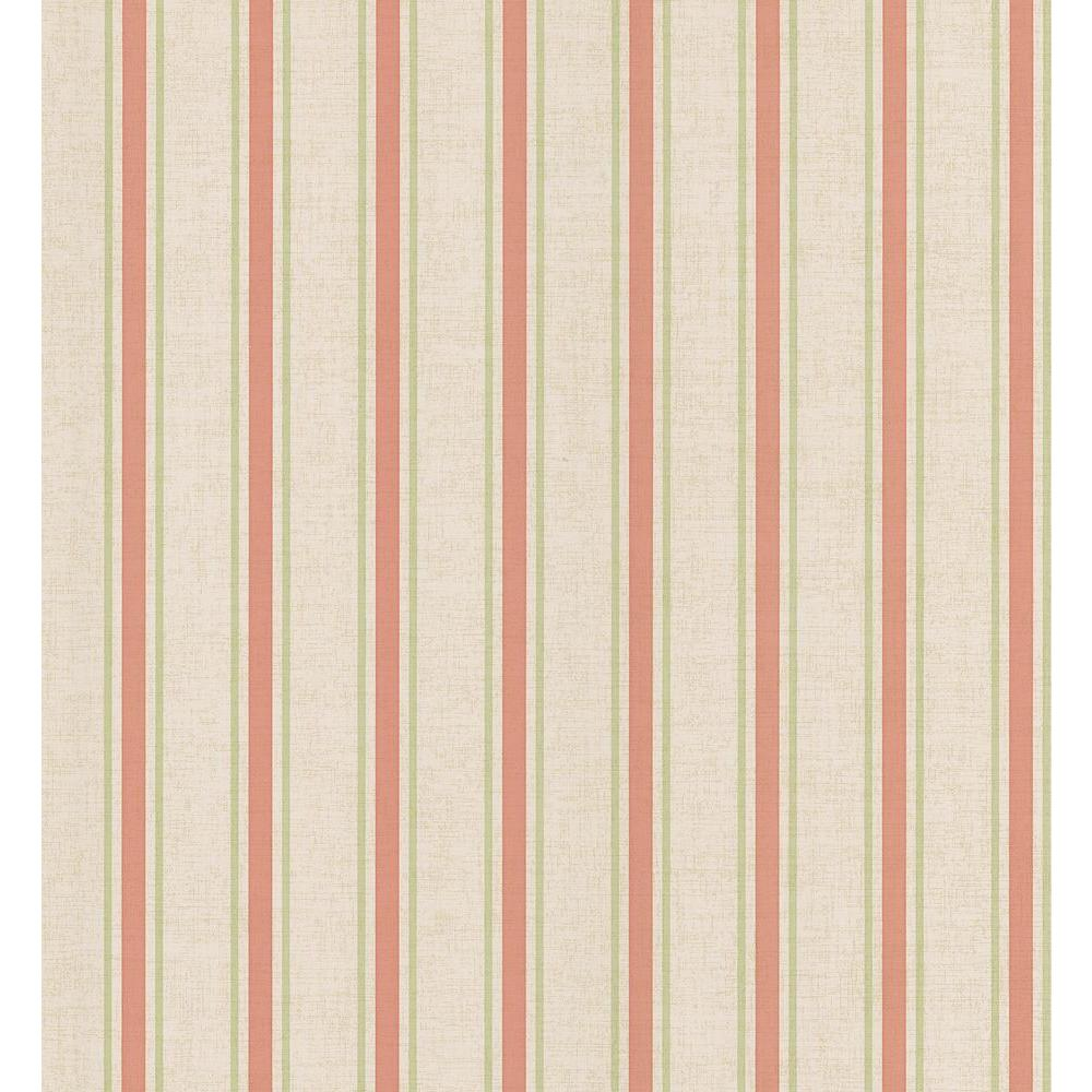 Brewster 56 sq. ft. Linen Stripe Wallpaper