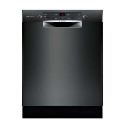 300 Series 24 in. ADA Front Control Tall Tub Dishwasher in Black with Stainless Steel Tub, 46dBA