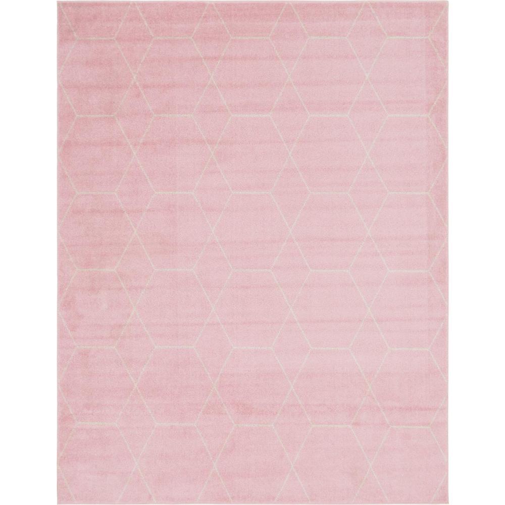 Unique Loom Trellis Frieze Pink 8 X 10 Rug