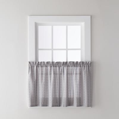 Hopscotch 57 in. W x 36 In. L Polyester Tier Pair in Gray