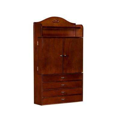 Andrea Wall Mount Jewelry Armoire in Cherry