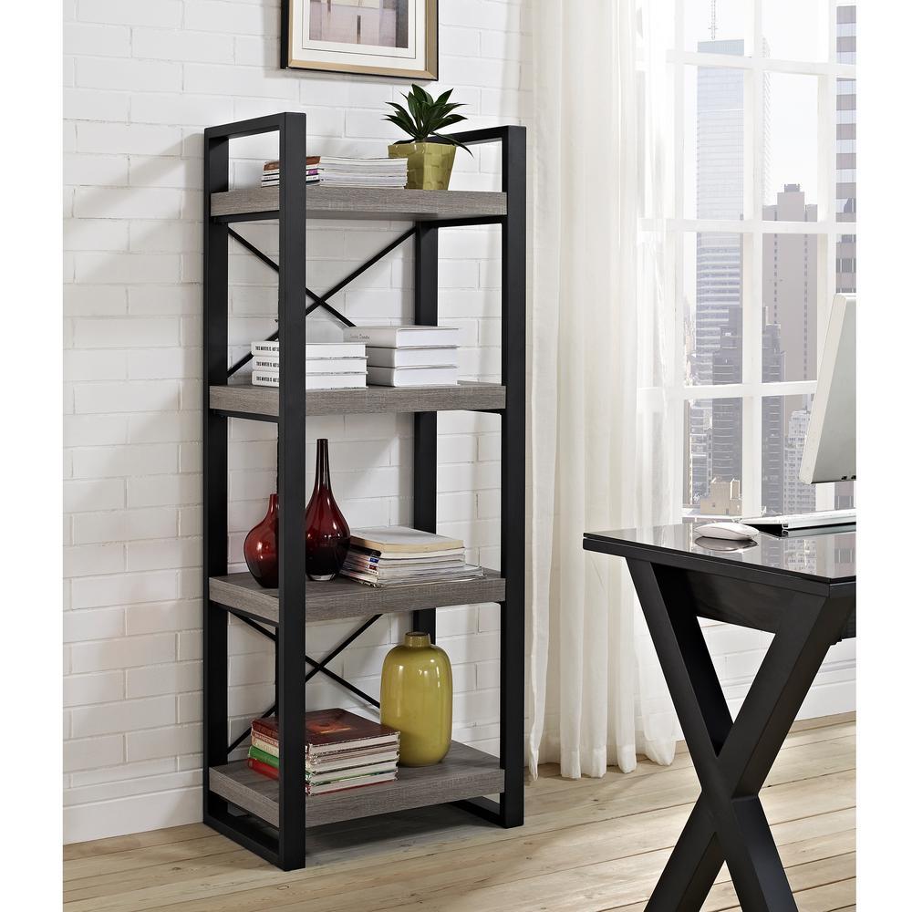 Superb Walker Edison Furniture Company Urban Ash Grey Open Bookcase
