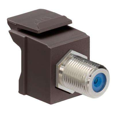 QuickPort F-Type Nickel-Plated Connector, Brown
