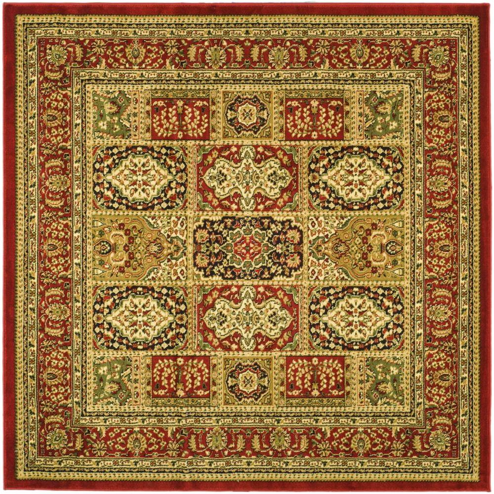Safavieh Lyndhurst Multi Red 6 Ft X 6 Ft Square Area Rug