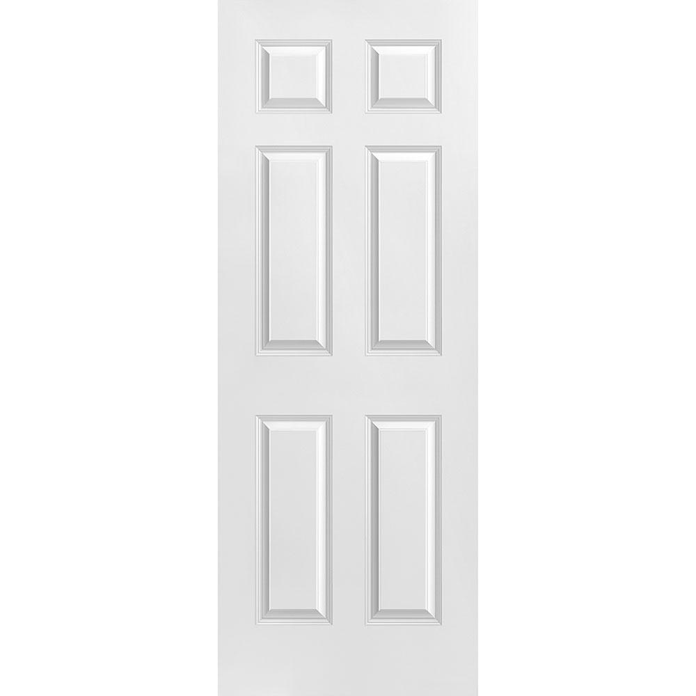 Masonite 30 In X 80 In Solidoor Smooth 6 Panel Solid Core Primed Composite Interior Door Slab 16784 The Home Depot