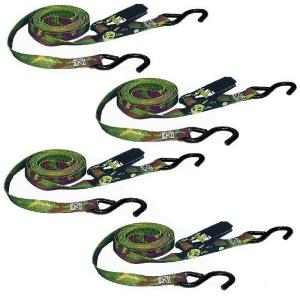 Keeper 8 ft. x 1 inch 1200 lb. Camo Ratchet Tie-Down (4-Pack) by Keeper