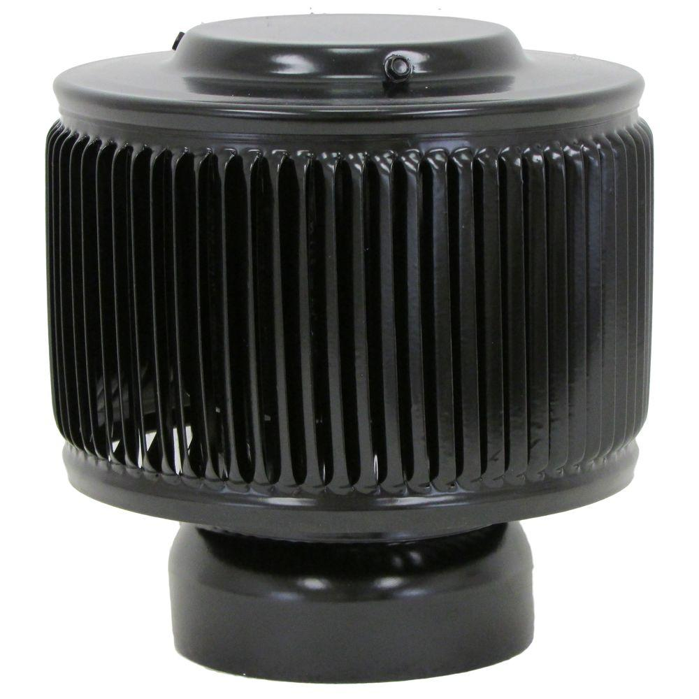 Dia Aura Pvc Vent Cap Exhaust With Adapter For Schedule 40 Or Schedule 80 Pvc Pipe In Black