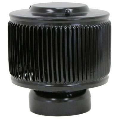 Aura PVC Vent Cap 4 in. Dia Exhaust Vent With Adapter to Fit Over a 4 in. PVC Pipe in Black Powder Coat