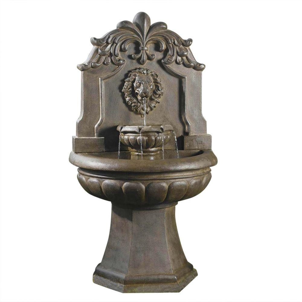 Outdoor Water Fountains Home Depot: Fountain Cellar Copper Lion Head Outdoor/Indoor Water