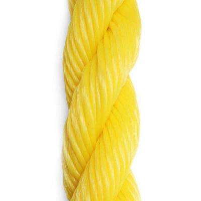 1/4 in. x 50 ft. Yellow 3-Strand Twisted Polypropylene Rope