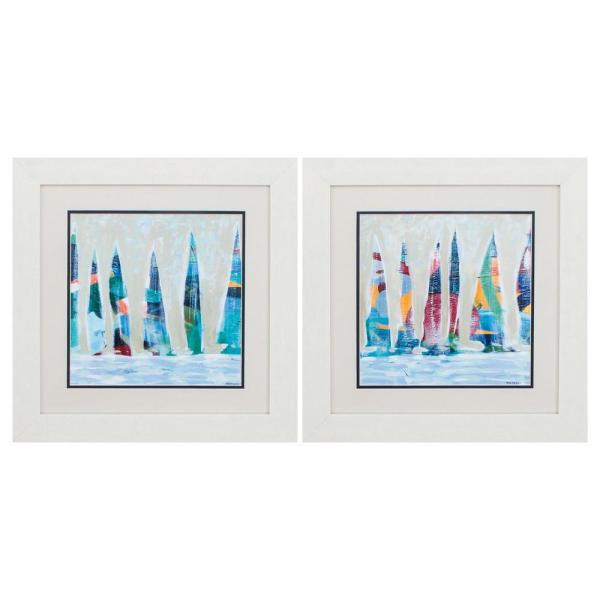Homeroots Victoria White Gallery Frame Set Of 2 365265 The Home Depot