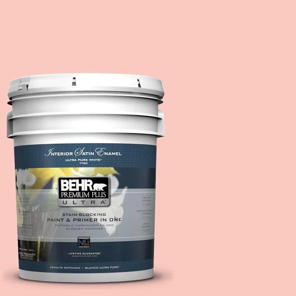 5 gal. #200C-3 Spring Song Satin Enamel Interior Paint and Primer