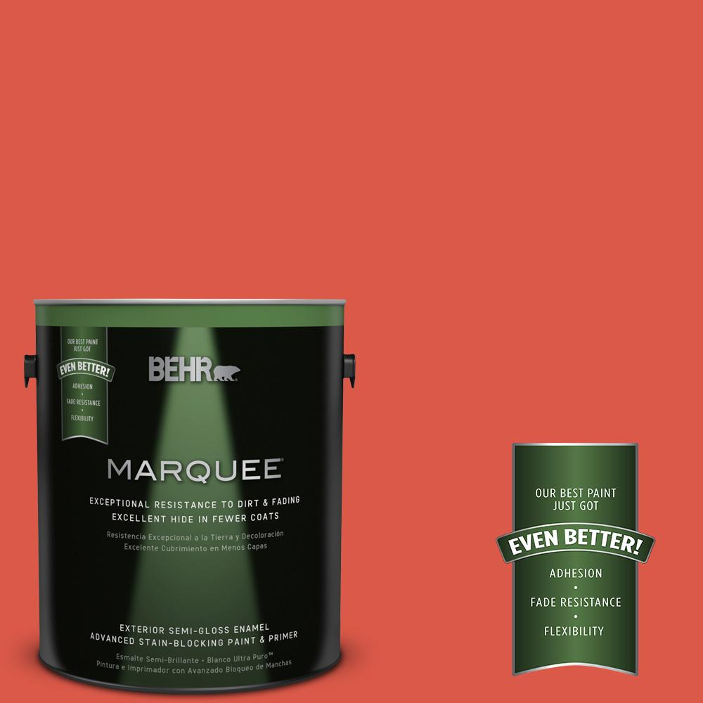 1-gal. #T12-7 Red Wire Semi-Gloss Enamel Exterior Paint