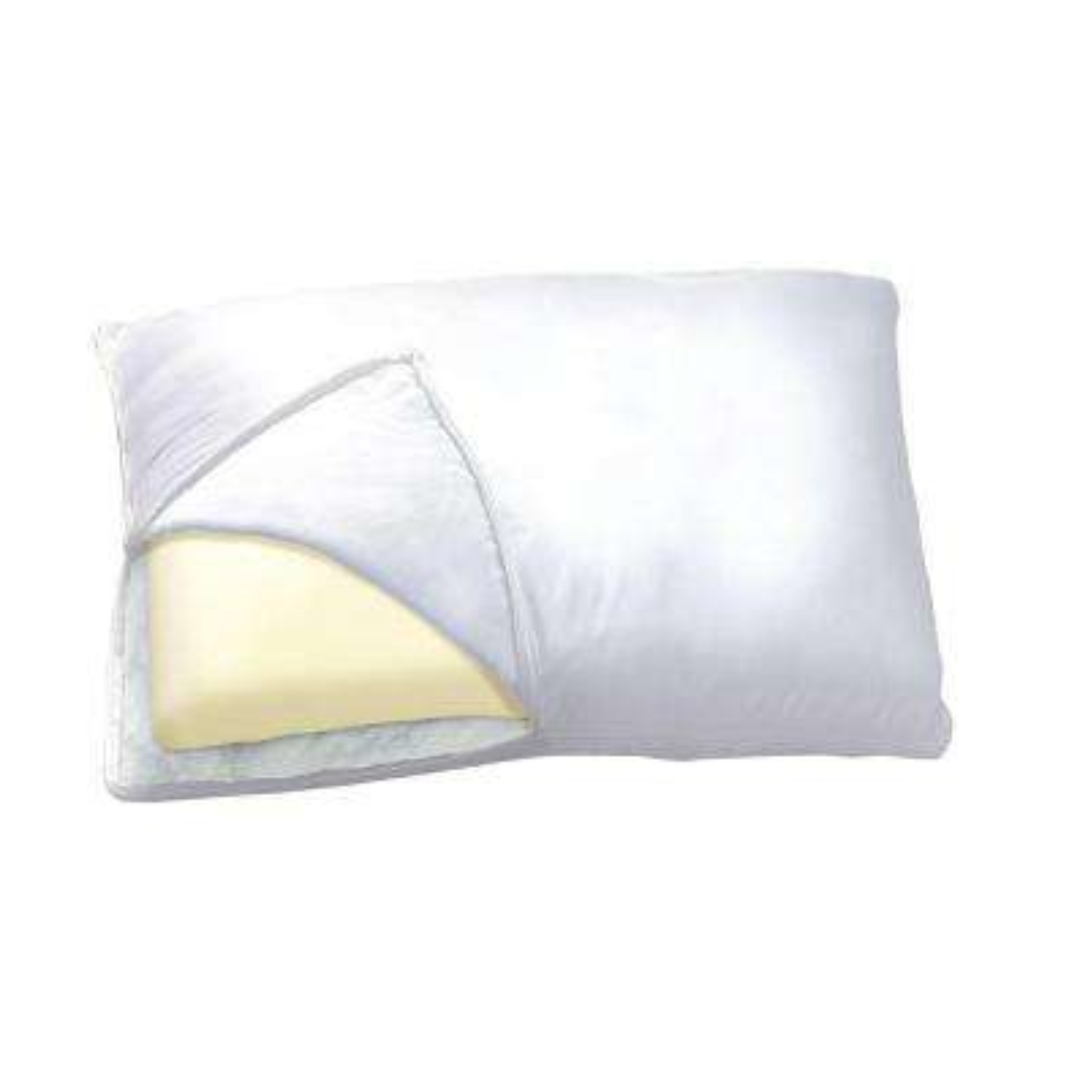 Memory Foam Fiber 2-in-1 Reversible Pillow