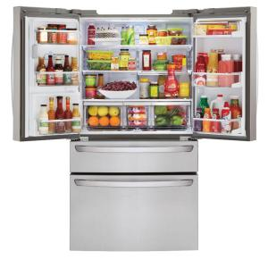 stainless steel lg electronics french door refrigerators lmxc23746s e1_300 lg electronics 22 7 cu ft french door refrigerator in stainless  at crackthecode.co