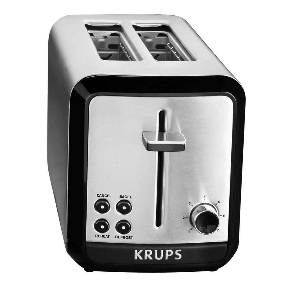 Krups Savoy 2-Slice Stainless Toaster, Brushed Stainless