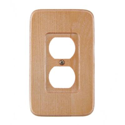 Wood 1-Gang 1-Duplex/ 1-Single Wall Plate (1-Pack)