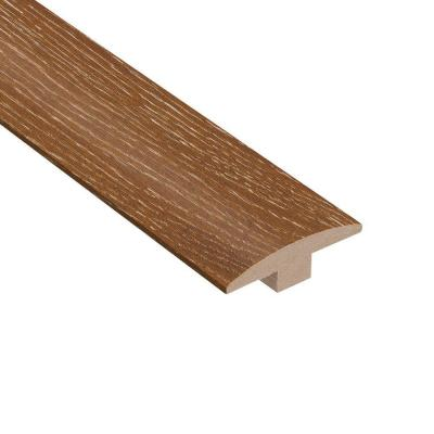 Wire Brushed Heritage Oak 3/8 in. Thick x 2 in. Wide x 78 in. Length T-Molding