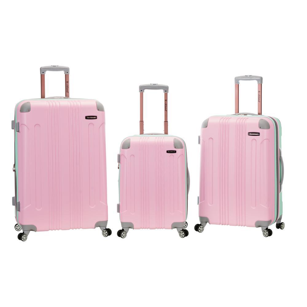 804b14679 Rockland Rockland Sonic 3-Piece Hardside Spinner Luggage Set, Mint ...