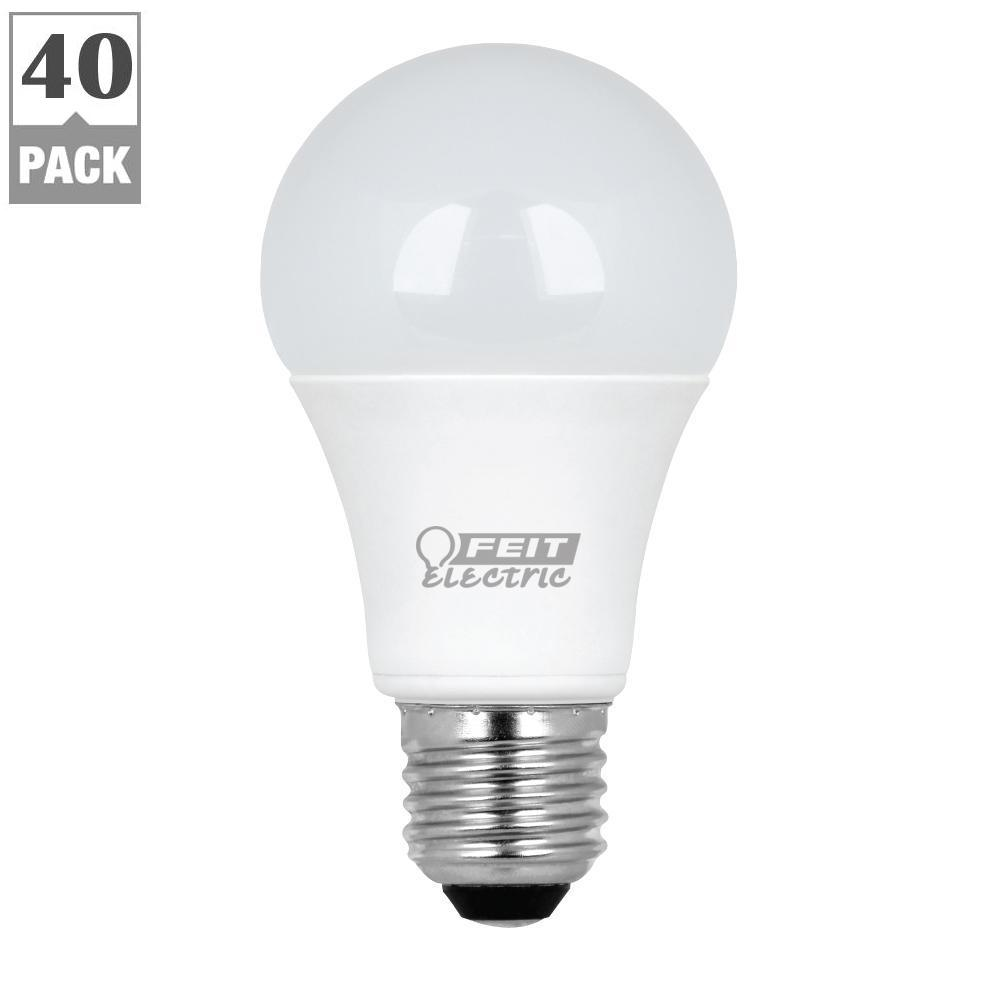 Home Depot Led Light Bulbs: Feit Electric 60W Equivalent Warm White A19 LED Light Bulb