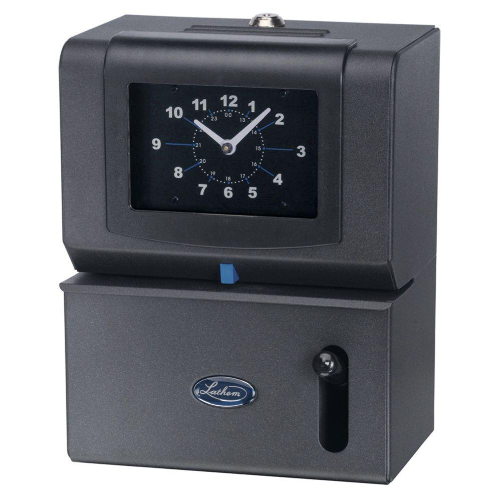 Lathem State of Art Employee Time Stamp with Analog Time Clock