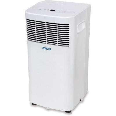 6,000 BTU 3000 BTU (DOE) Portable Air Conditioner with Remote Control for Rooms up to 250 sq. ft. in White