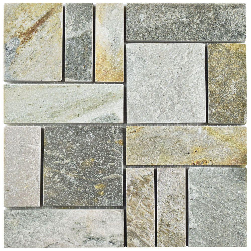 Merola tile crag patchwork arizona quartzite 12 in x 12 in x 10 merola tile crag patchwork arizona quartzite 12 in x 12 in x 10 mm natural stone mosaic tile mcrptqa the home depot dailygadgetfo Choice Image