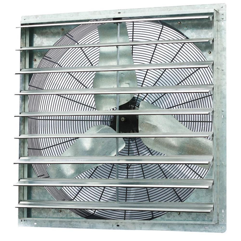 Bathroom Exhaust Fan With Shutter: ILIVING 6100 CFM Power 36 In. Single Speed Shutter Exhaust