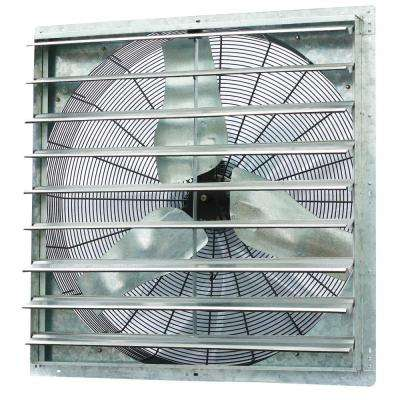 6100 CFM Power 36 in. Single Speed Shutter Exhaust Fan