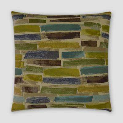 Paintstrokes Feather Down 18 in. x 18 in. Standard Decorative Throw Pillow