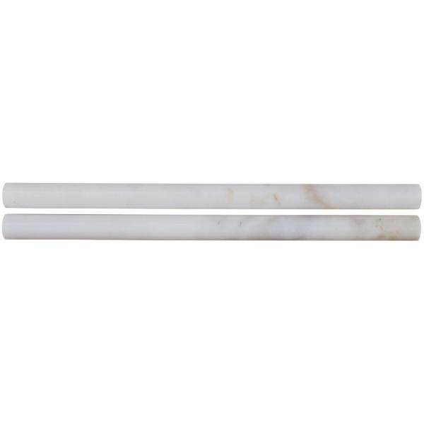 Calacatta Gold Pencil Molding 3/4 in. x 12 in. Polished Marble Wall Tile (20 pieces/Case)