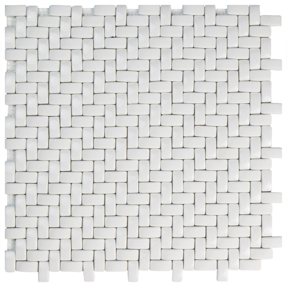 Expressions Weave White 12-1/4 in. x 12-1/4 in. x 7 mm