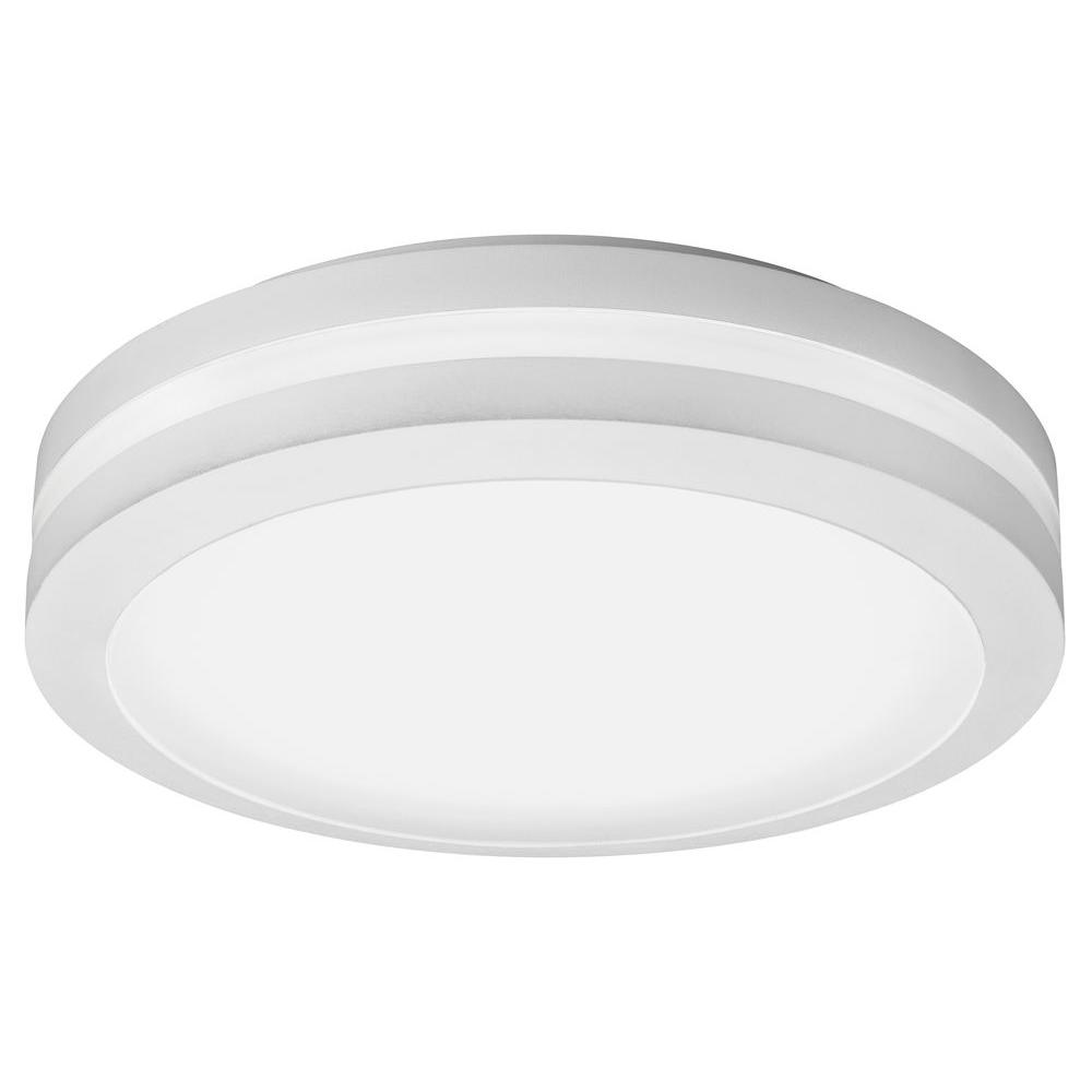 Lithonia Lighting White Outdoor Integrated LED Decorative Flush ...
