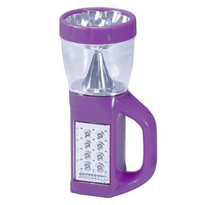 3-in-1 LED Camping Lantern Flashlight, Purple