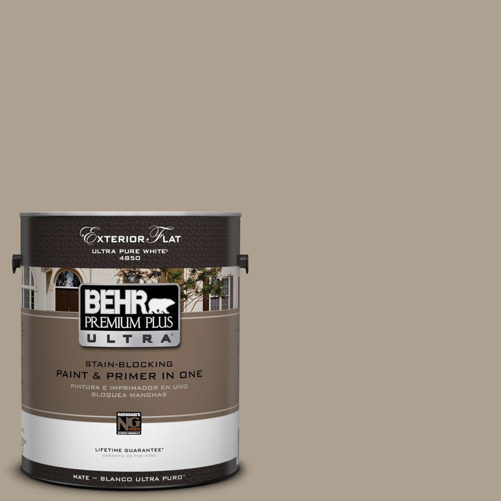 BEHR Premium Plus Ultra 1-gal. #UL170-20 Sierra Sand Flat Exterior Paint