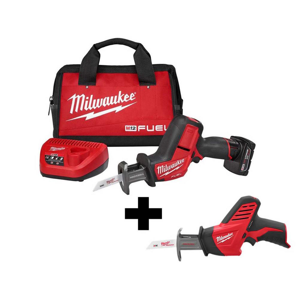 Milwaukee Hackzall M12 Cordless Reciprocating Saw 2420-20 /& 2.0 Battery