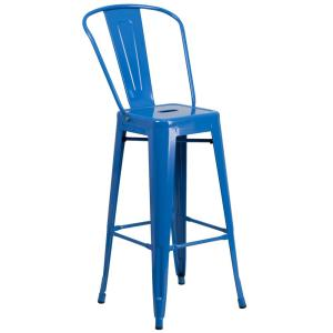 30.25 in. Blue Bar Stool