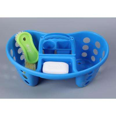 Portable Plastic Tool and Cleaning Caddy Blue