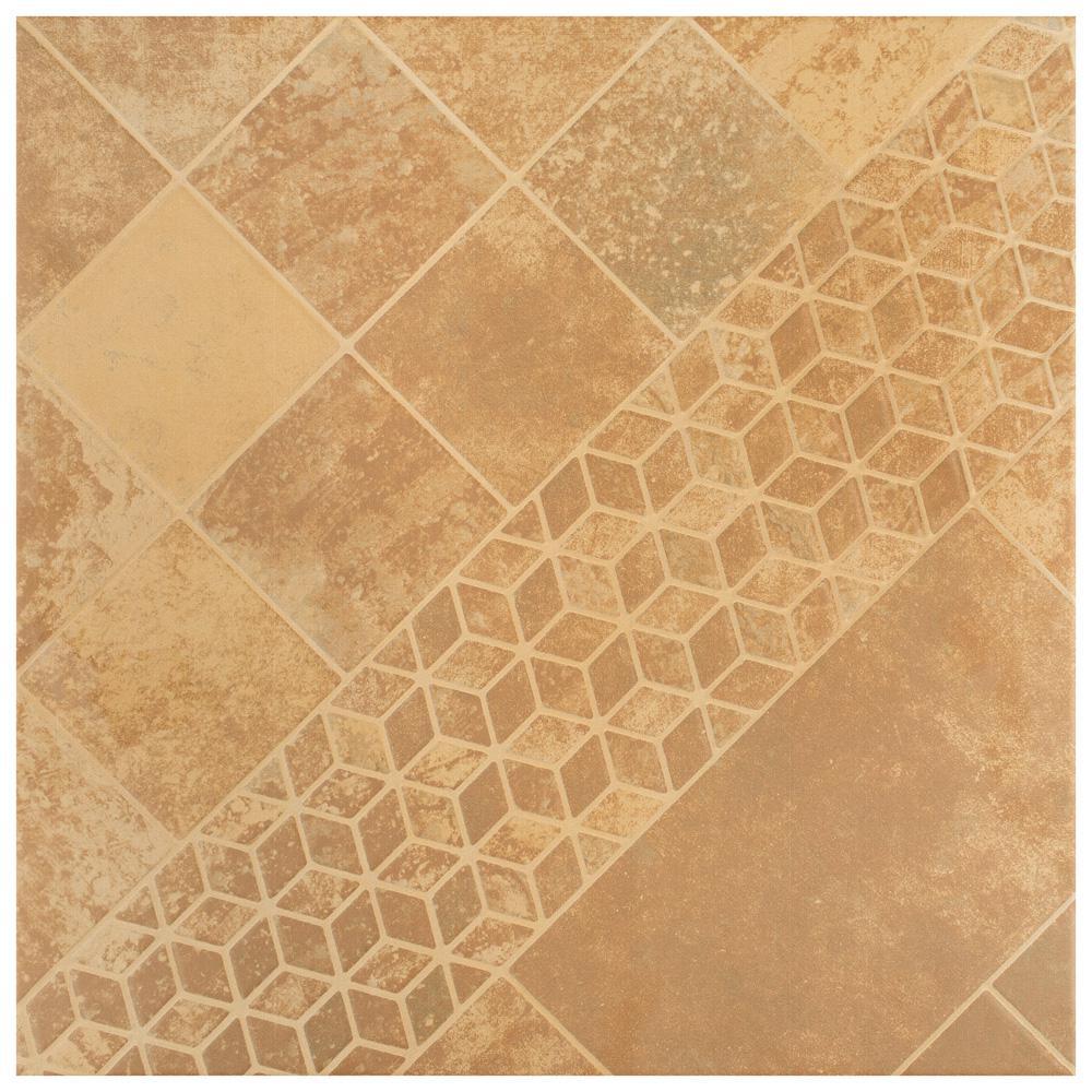 Teruel 17-3 / 4 in. x 17-3 / 4 in. Beige Ceramic Floor and Wall Tile (15.64 sq. ft. / case)