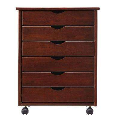 Stanton 6-Drawers Wide Storage Cart