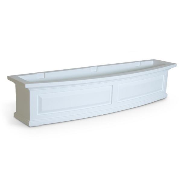 48 in. x 11.5 in. White Plastic Window Box